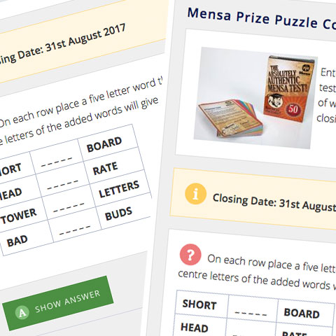 Click to read about Mensa games & puzzles